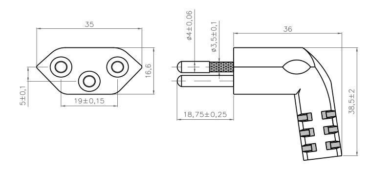 s 54 swiss plug 2 pole   e angled  u2013 patelec group  u2013 plug